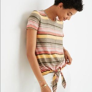 Madewell | texture and thread tie striped tee